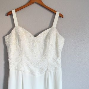 Vintage Jovani Beaded White Wedding Gown Dress 3X